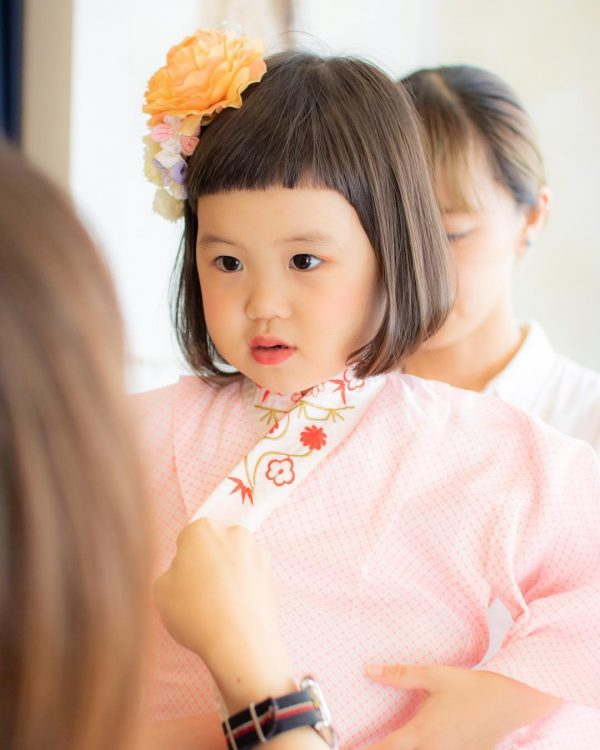 七五三の髪型 3歳の少なくて短い髪でもアレンジ可能 薄毛ちゃんの